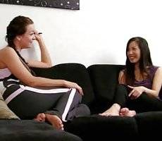 Janessa and Suki are winding down after yoga class when Suki drops a bomb: she has been helping out lonely girls with their sexual frustration by lending them her boyfriend. Janessa asks if Suki has ever tried joining in... and you can probably guess. Yog