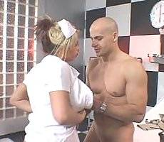 Naughty nurse Brooke Haven is a stacked blonde who enjoys teasing her handsome patients with her luscious body. Watch her take care of a hunky patient and treat him with cock pleasure using her mouth. Check her out as she takes hard fucking in her ti